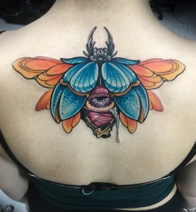 St Pete Tattoo Artist Grizzle Scarab Beetle