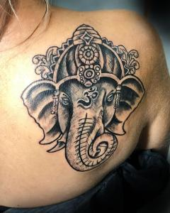Ganesha design for cover up