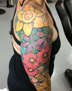Family Flowers Sleeve