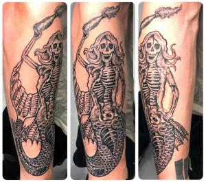 Evil Skeleton Mermaid