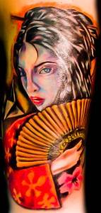 geisha women tattoo 2010