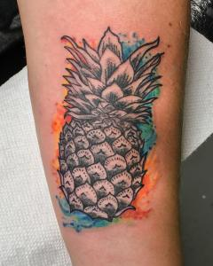 Pineapple Watercolor Design