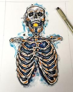 Skeleton Tattooart